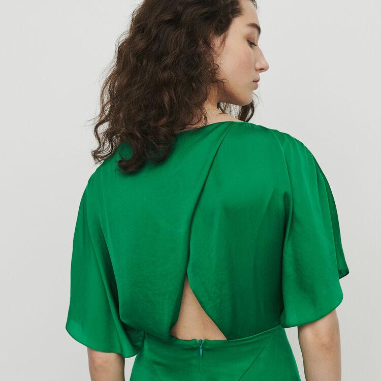 Vestido largo asimétrico : Vestidos color Verde