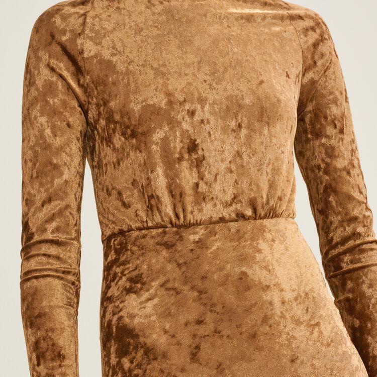 Vestido largo de terciopelo : Vestidos color OR