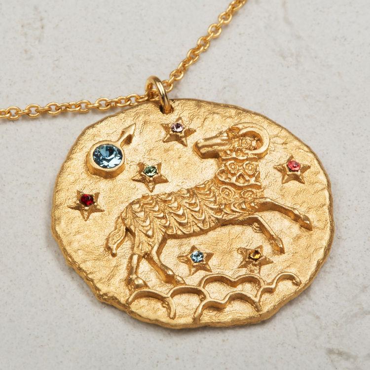 Collar de signo del Zodíaco Aries : Bisuteria color OR