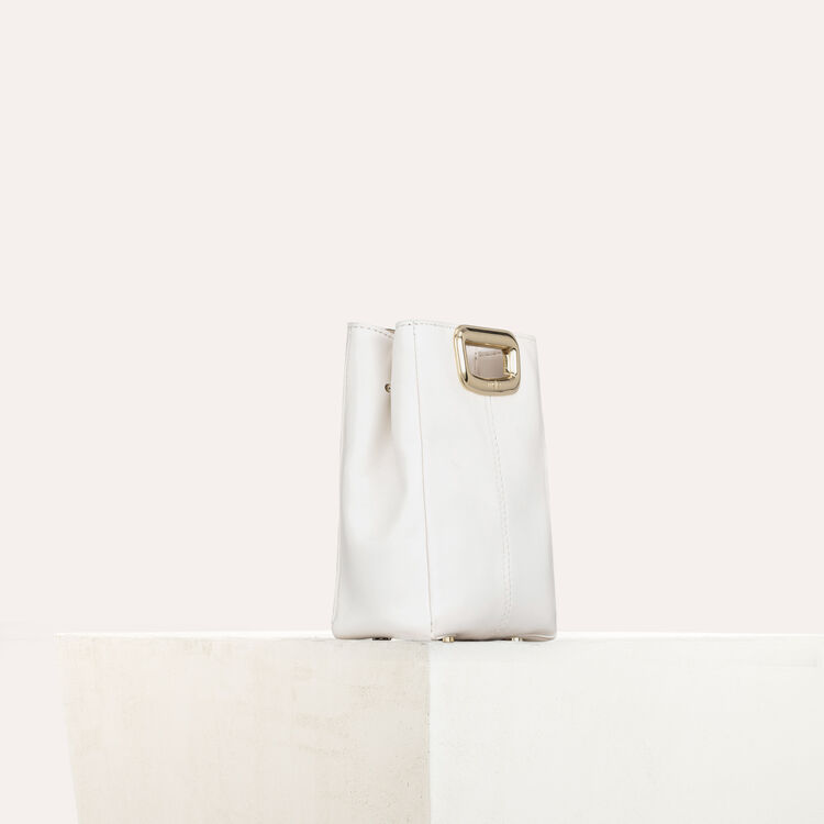 Bolso M Mini Skin de cuero y metal : M Mini color Blanco