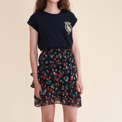 Bedruckter Rock : Faldas y shorts color Estampado