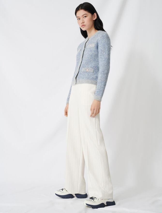 Pantalón elefante cinturón contraste - Pantalones y Jeans - MAJE