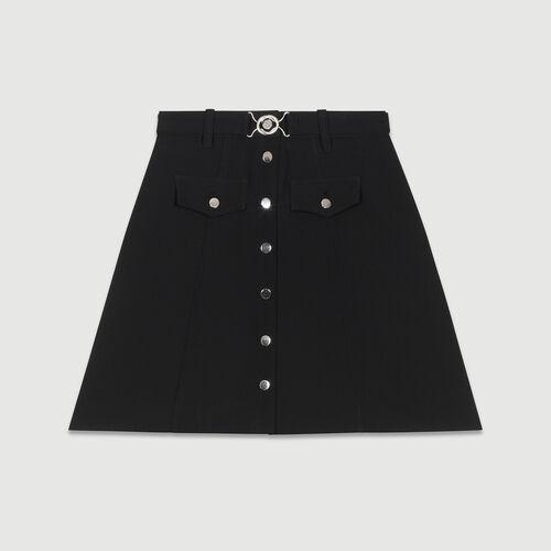 Vaquero skinny de algodón Stretch : Faldas y shorts color Negro