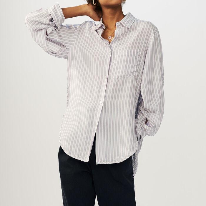 Camisa oversize a rayas : Camisas color Rayas