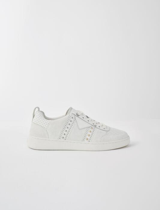 Zapatillas de piel blancas con tachuelas : Sneakers color Blanco