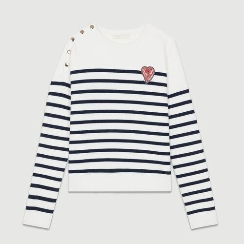 Jersey estilo marinero de algodón : Jerseys y cárdigans color Bicolor