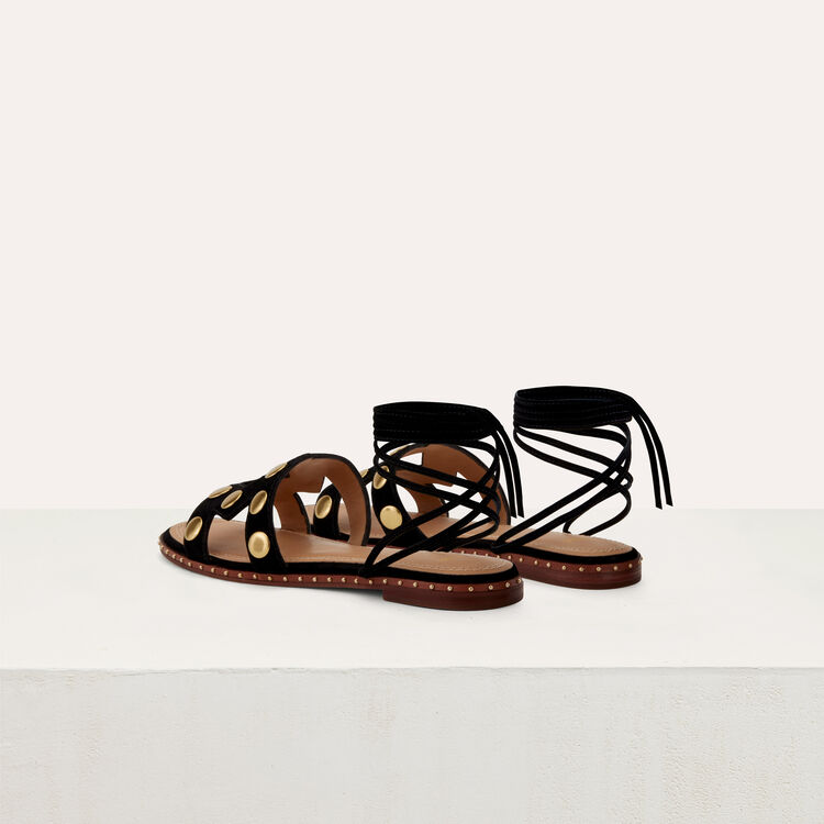 Flat sandals with studs : Zapatos color Negro