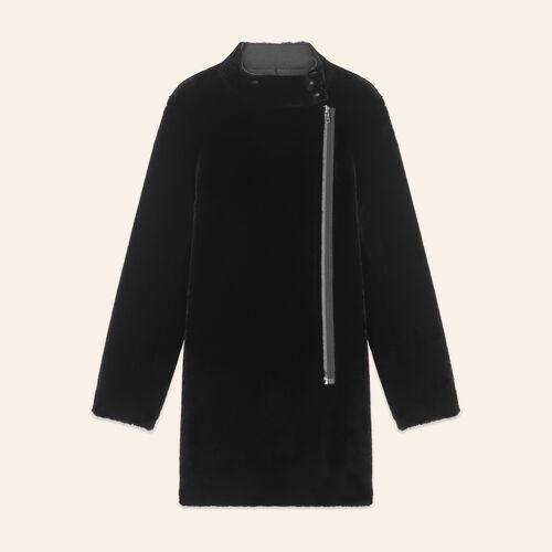 Abrigo de piel vuelta : Abrigos color Negro