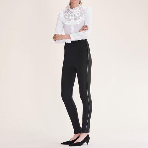 Legging con múltiples cremalleras : Pantalones y vaqueros color Negro