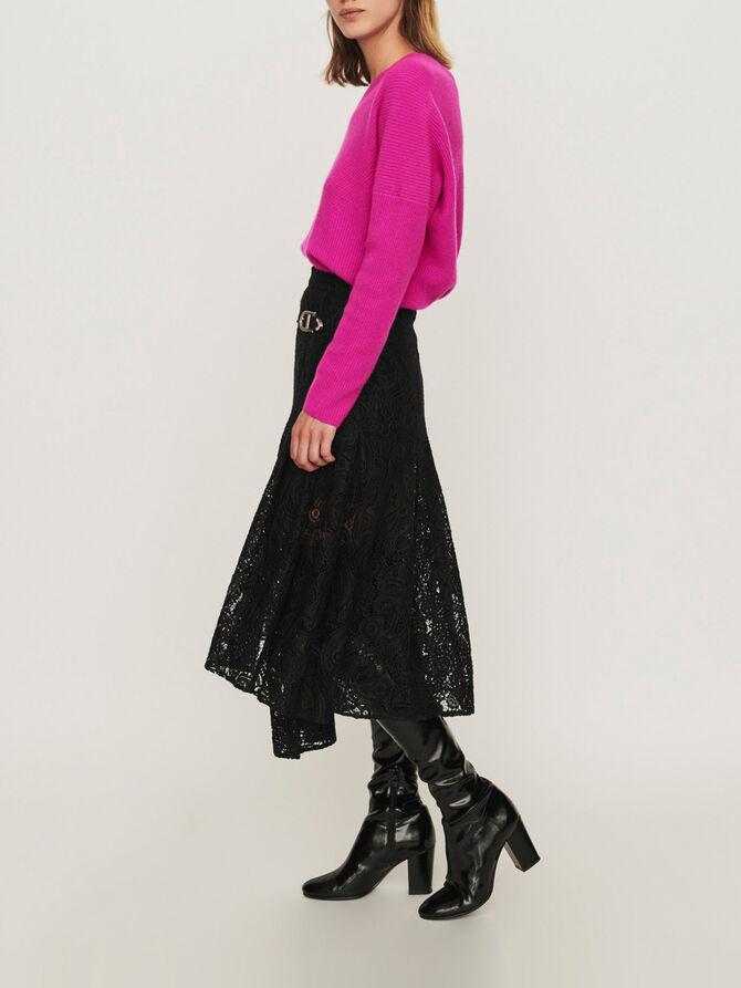 Falda en guipur con motivos cachemir - Faldas y shorts - MAJE