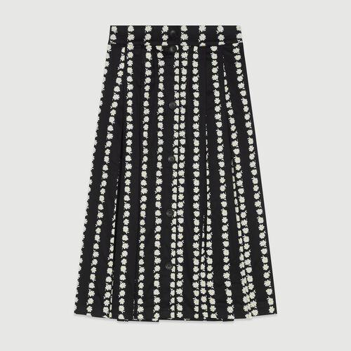 Falda larga estampado margarita : Faldas y shorts color IMPRIME