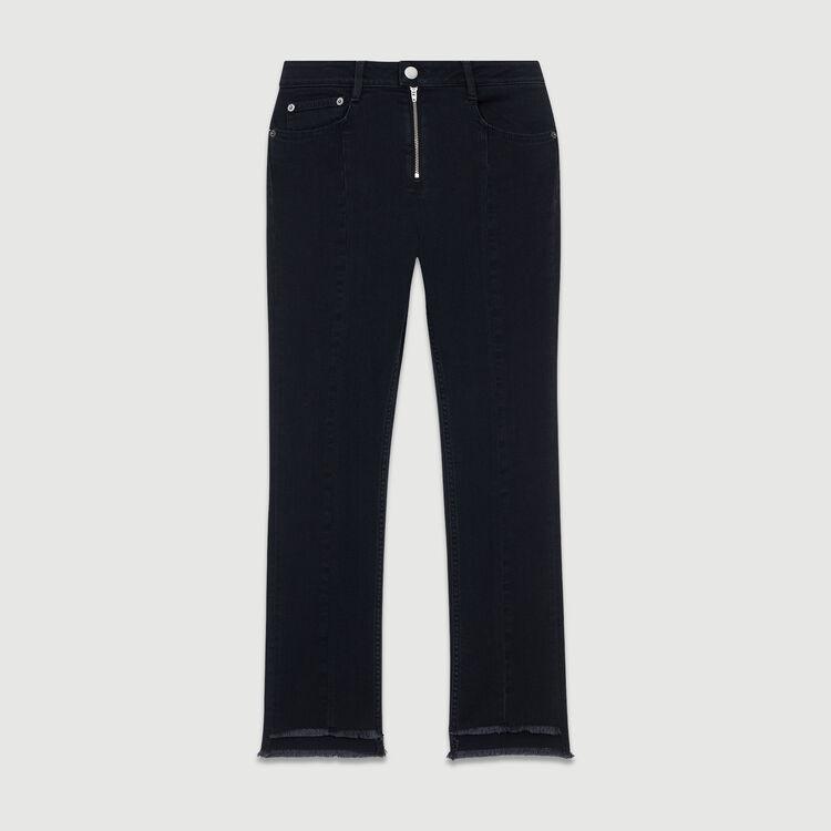 Vaquero asimétrico con flecos : Jeans color