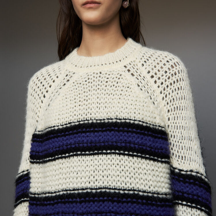 Jersey oversize de punto tricolor : Malla color Violeta