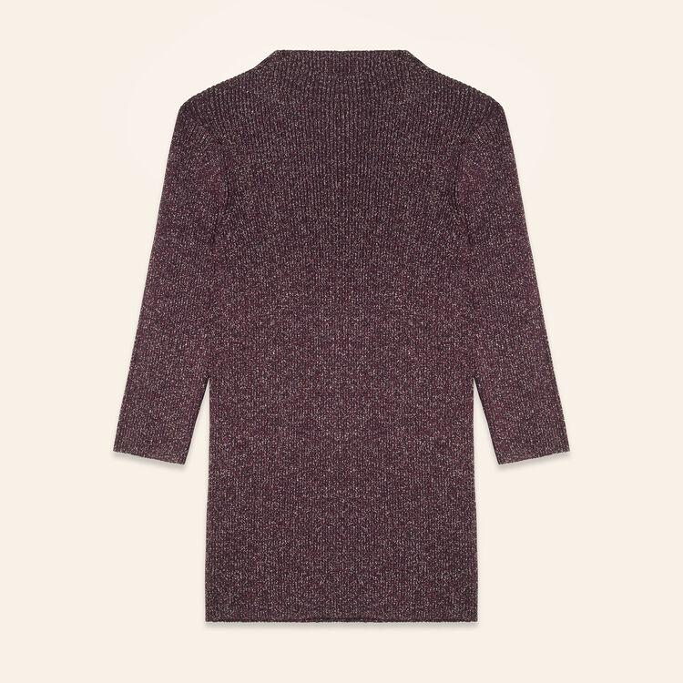 Jersey ajustado de punto de lúrex : Jerseys y cárdigans color BORDEAUX