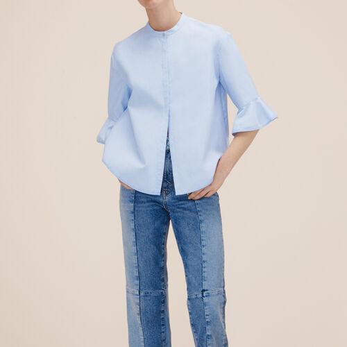 Camisa a rayas de popelina - Camisas - MAJE