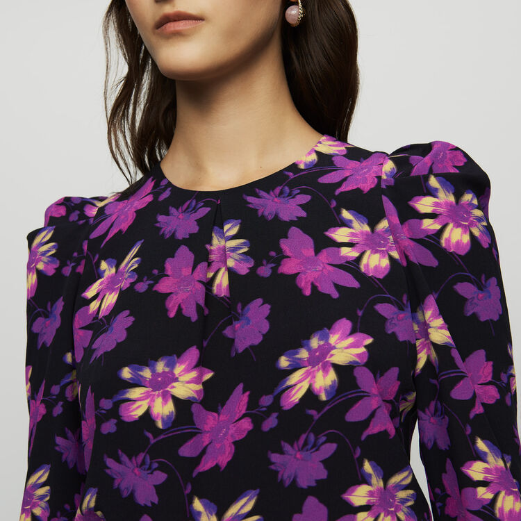 Top en crepé estampado floral : Tops color Estampado