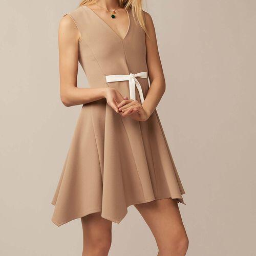 Vestido casulla con escote V - Pre-colección - MAJE