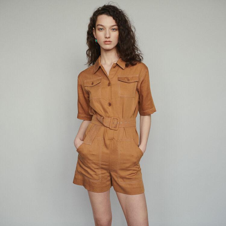 Mono-short camisa : Faldas y shorts color Terracota