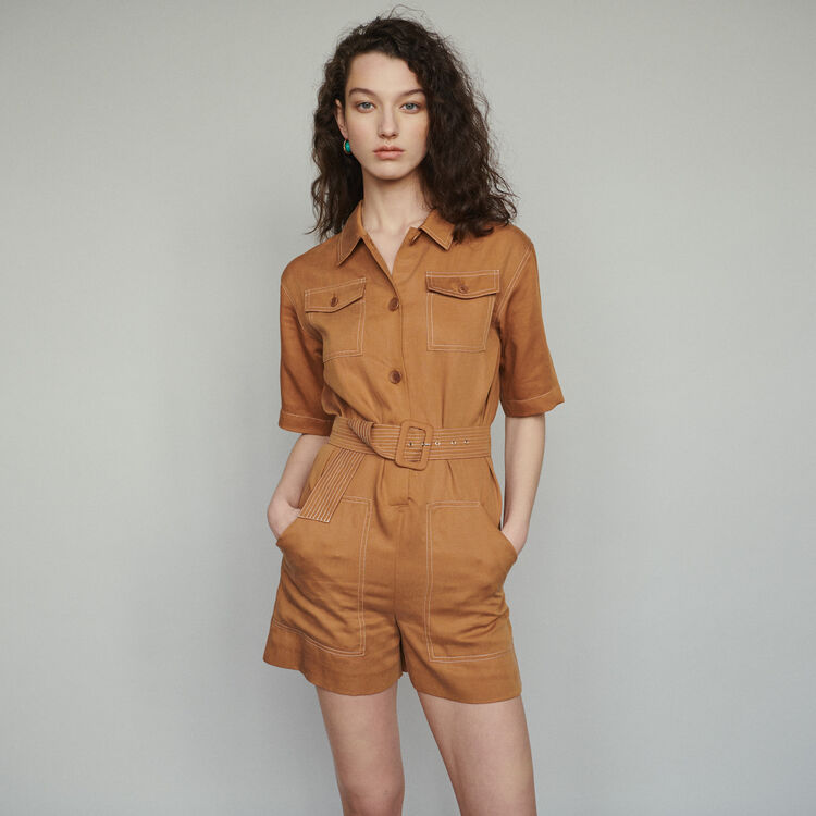 Mono-short camisa : Faldas y shorts color Terracota