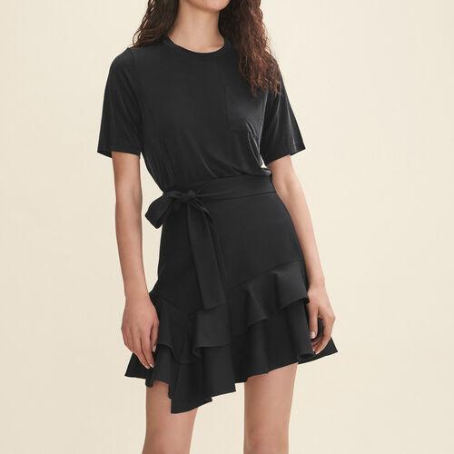 Falda corta con volantes - Faldas y shorts - MAJE