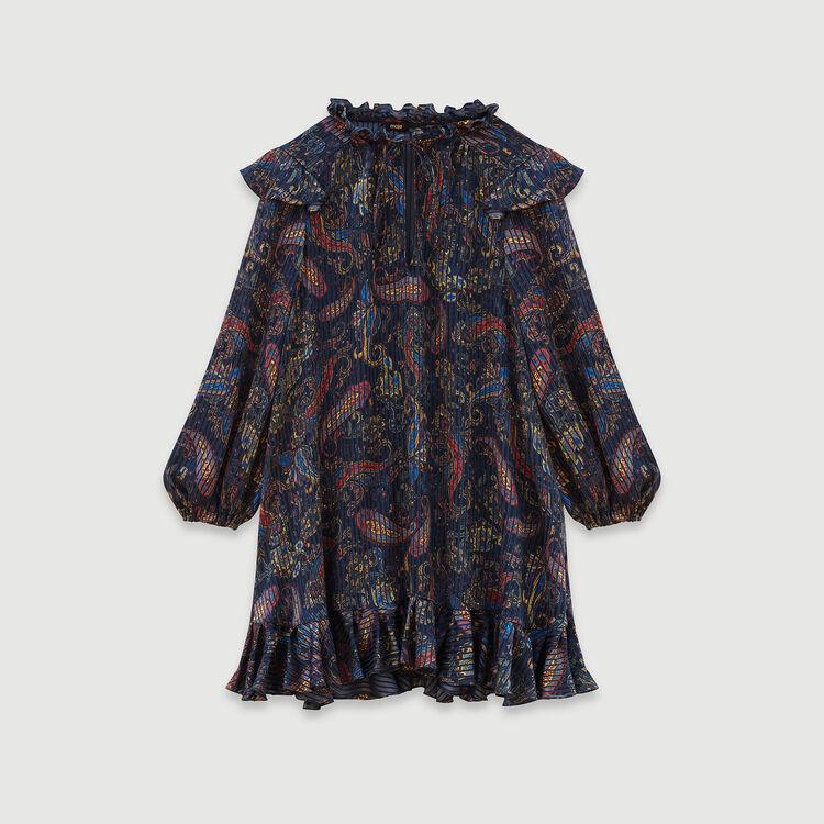 Vestido muñeca en Jacquard estampado : Vestidos color Azul Marino
