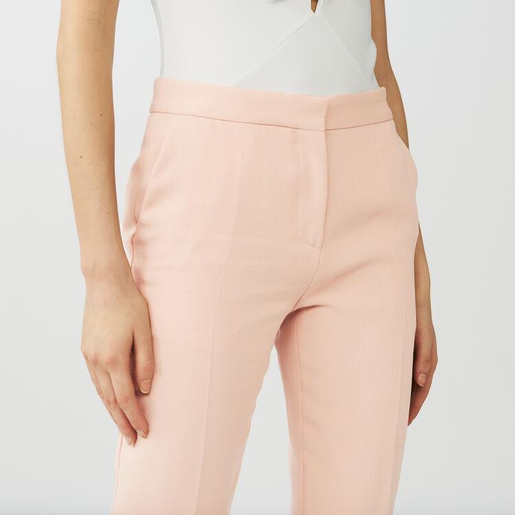 Pantalón recto tipo sastre : Pantalones color Rosa