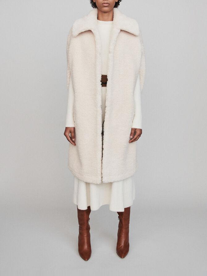 Abrigo de falsa piel tipo capa - Midseason-Sales_IE_Bestsellers - MAJE