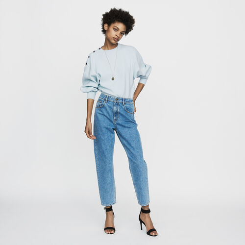 Jean ancho efecto lavado : Jeans color Denim
