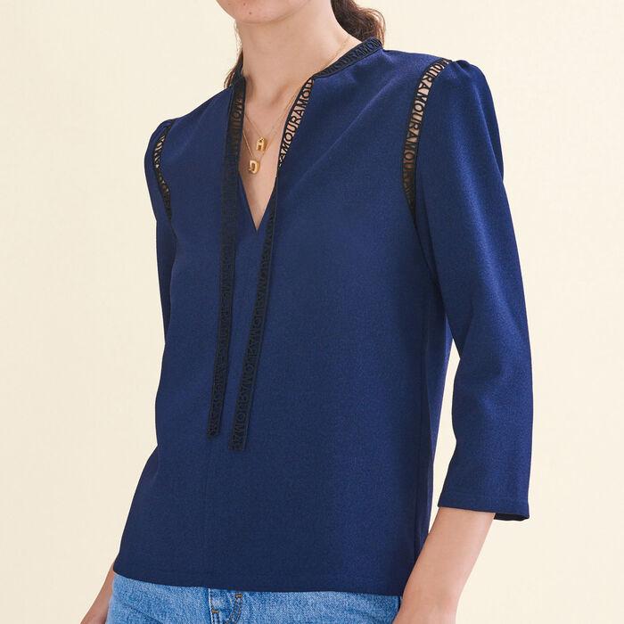 Blusa con galón - Camisas - MAJE