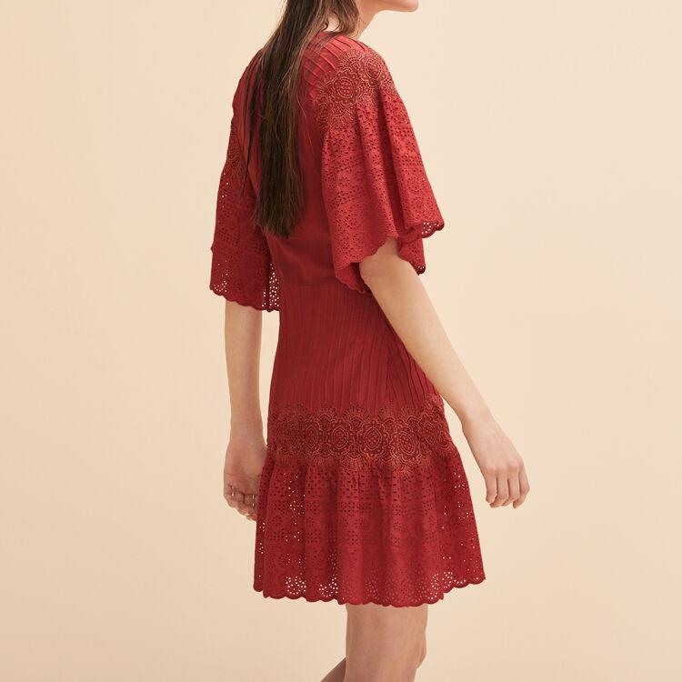 Vestido bordado con guipur - Colección Verano - MAJE