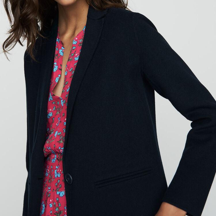 Abrigo largo de lana doble faz : Nueva Colección color VERT