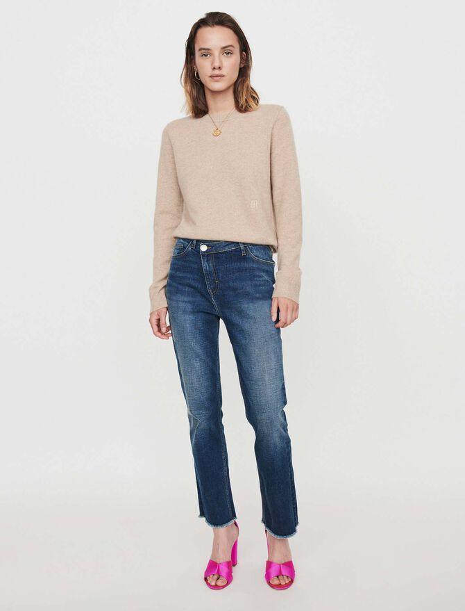 Jean con parche y cinturón - Pantalones y Jeans - MAJE