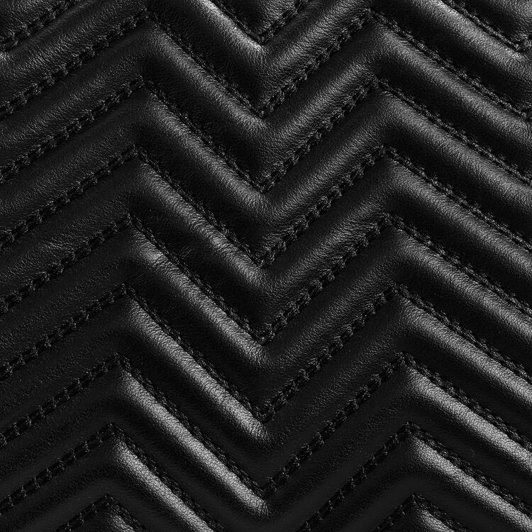 Bolso tipo alforja de piel acolchada : Ver todo color Negro