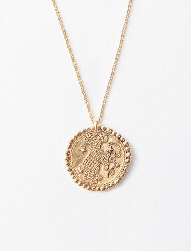 Collar de signo del Zodíaco Aries : Bisuteria color Latón Envejecido