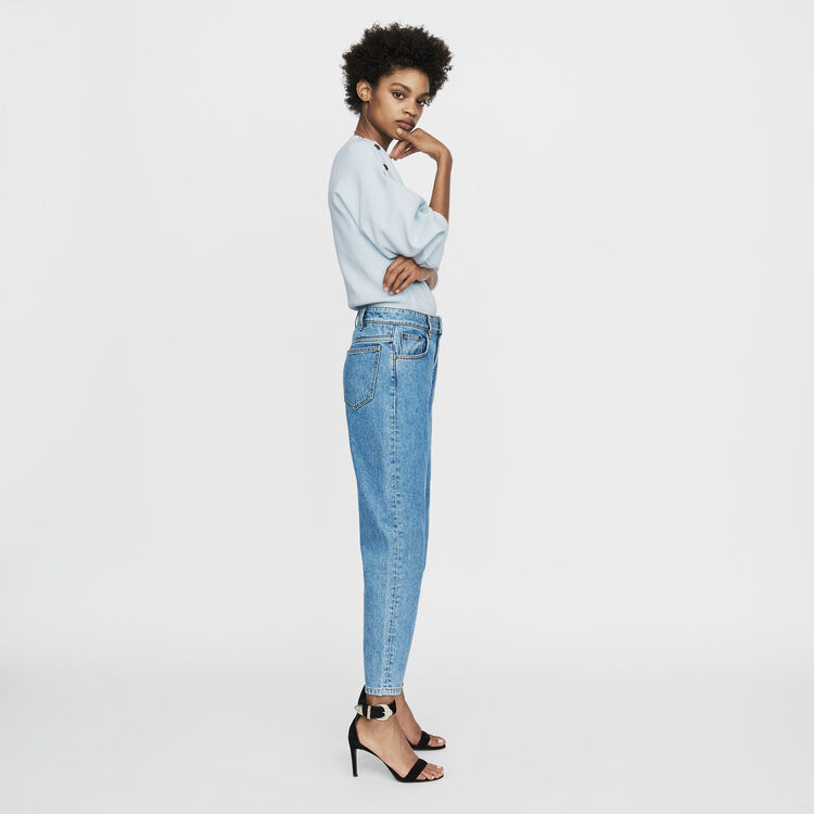 Jean ancho en denim desgastado : Urban color Denim