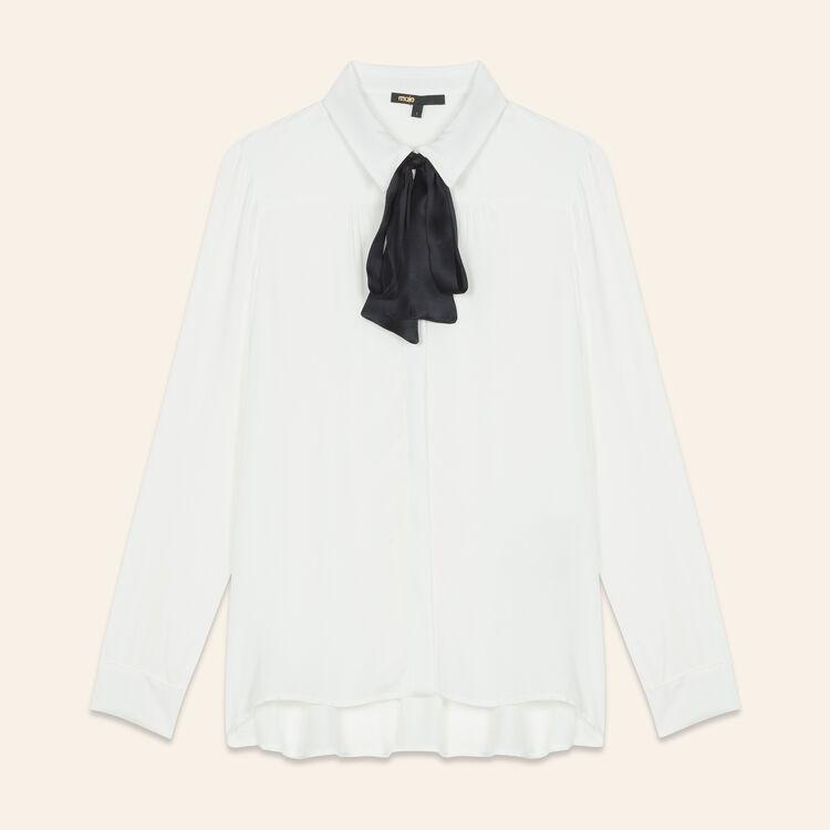 Camisa vaporosa con tira estilo lazo : Tops color Crudo