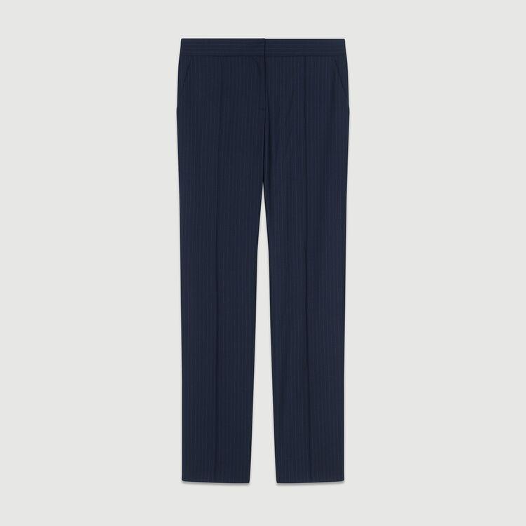 Pantalón sastre de rayas de tennis : Pantalones color Rayas
