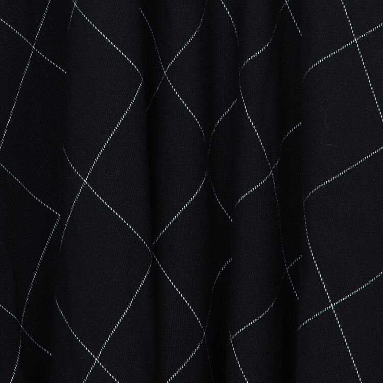 Vestido-camisero asimétrico de cuadros : Vestidos color CARREAUX