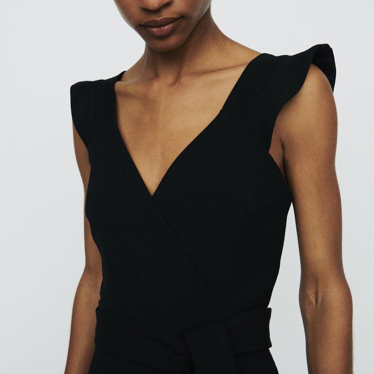 Mono short de crepé : Faldas y shorts color Negro