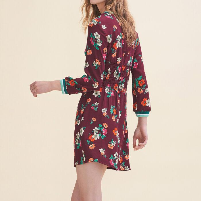 Vestido vaporoso con estampado retro : Vestidos color Estampado