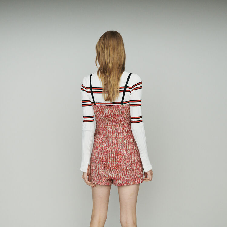 """Vestido """"trompe l'oeil"""" de tweed : Vestidos color Rojo"""