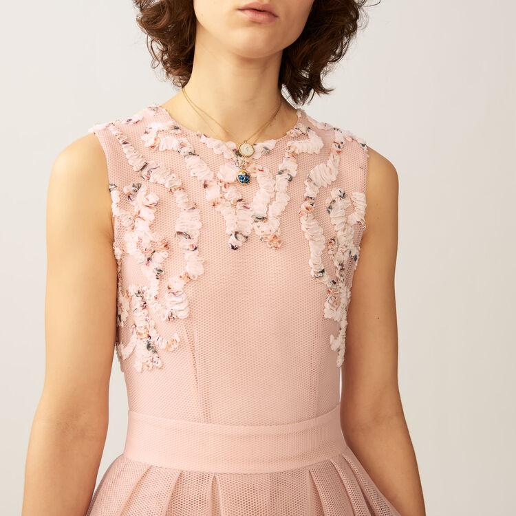 Vestido sin mangas en malla cesto : Vestidos color Rosa