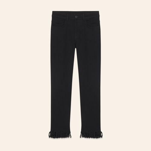 Vaquero recto con flecos - Jeans - MAJE