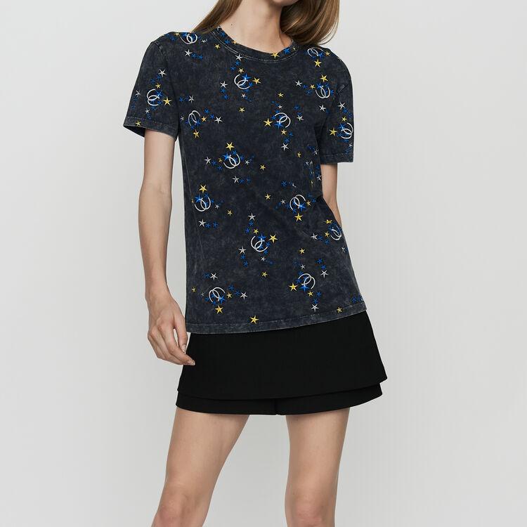 Camiseta de algodón desteñido : Urban color Gris