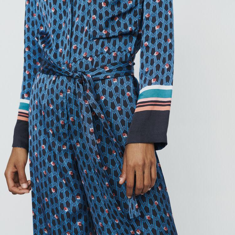Mono largo con estampado monograma : Pantalones y Jeans color IMPRIME