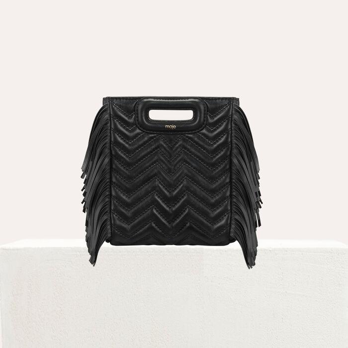 Mini-bolso M en cuero acolchado : M Mini color Negro