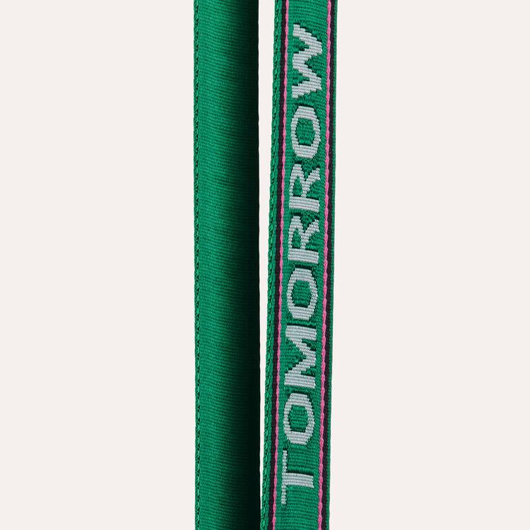 Bandolera extraíble con texto : Bandoleras color Verde