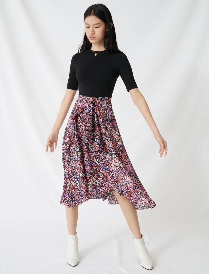 Vestido trampantojo estampado - Vestidos - MAJE