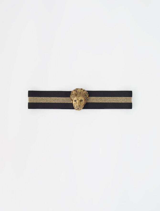 Cinturón elástico con adornos dorados - guía de regalo - MAJE