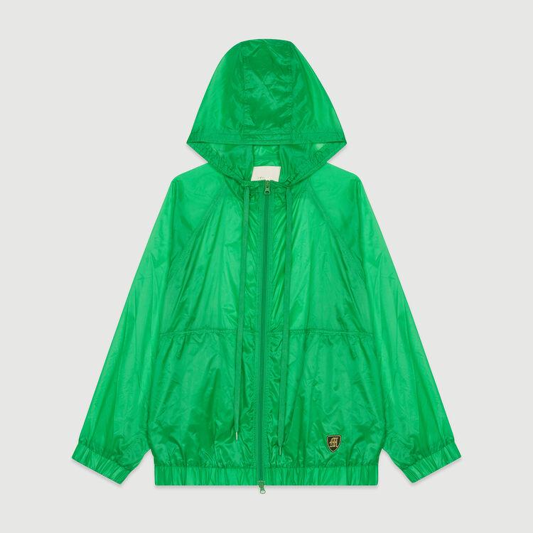 Rompevientos ligero con capucha : Abrigos y Cazadoras color Verde